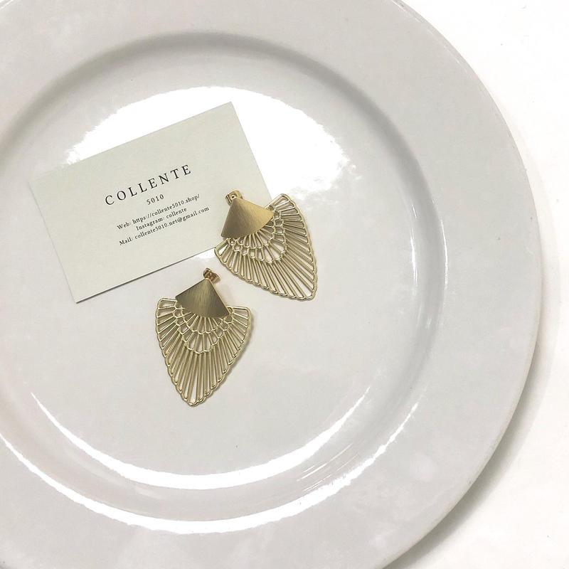 COLLENTE original Triangle  transparent gold piercing