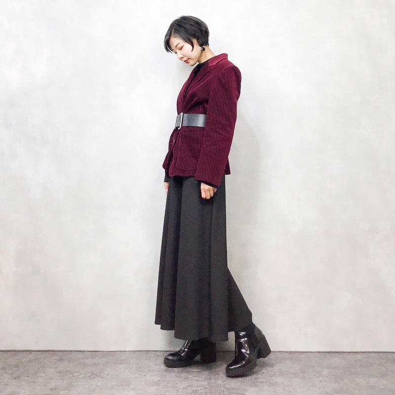 YeLe burgundy corduroy jacket