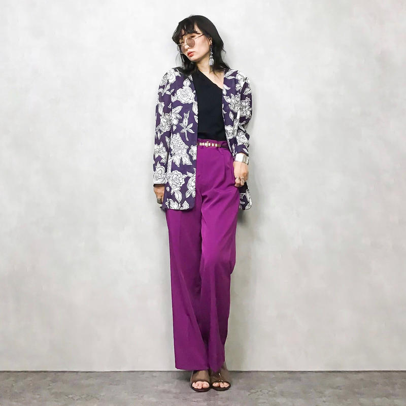 remalon purple cotton jacket-326