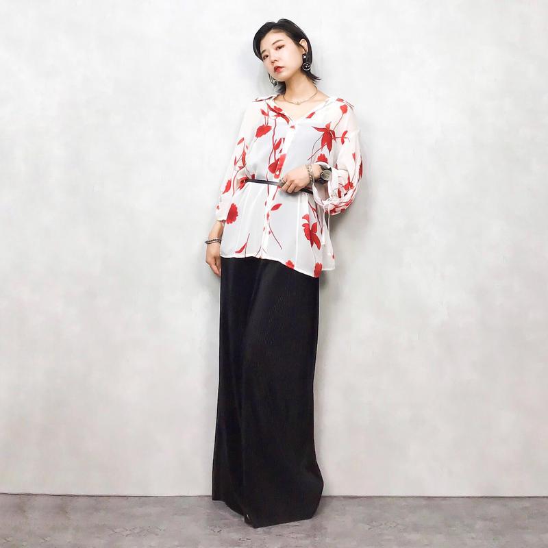 SAMOON red flower shirt-424-7