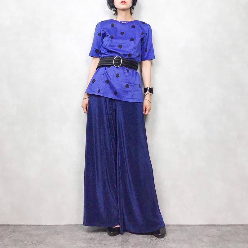 TZIIE dot blue shirt