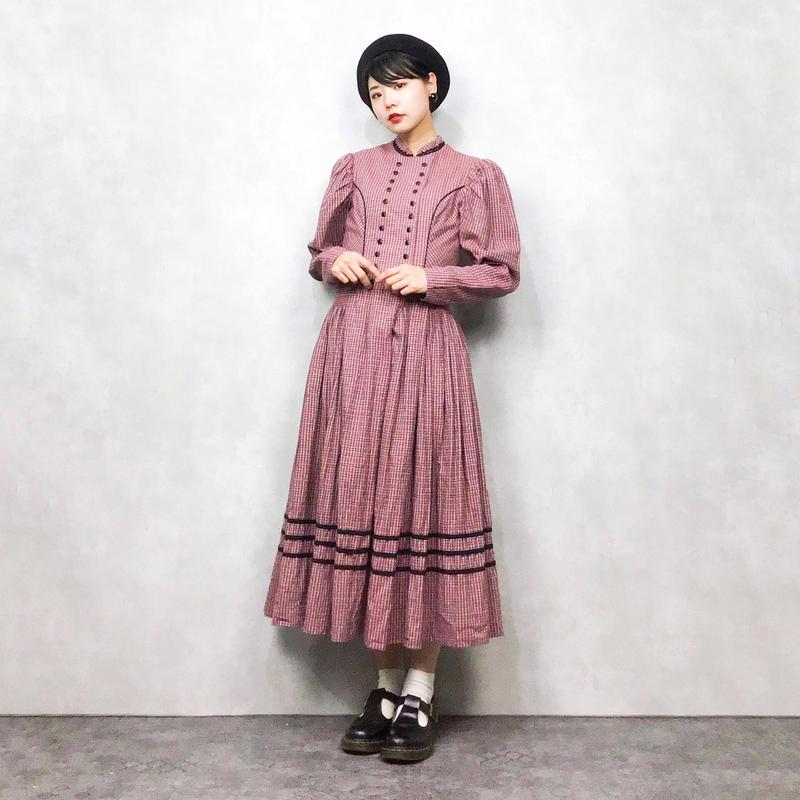 SALZBURGER TRACHTEN pink check dress