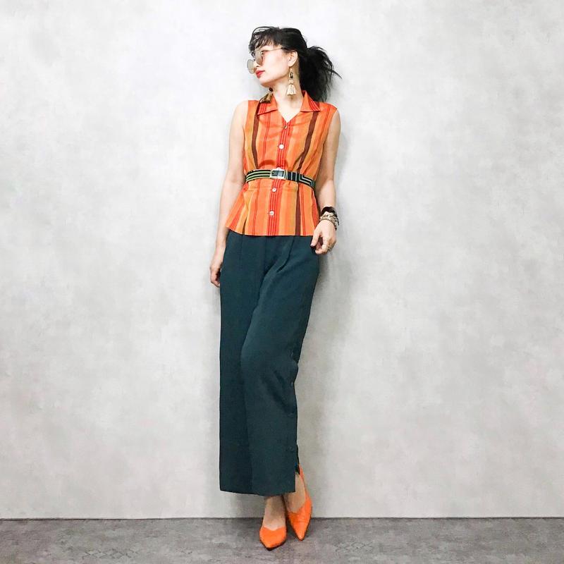 ANNE K_EINII orange shirt vest