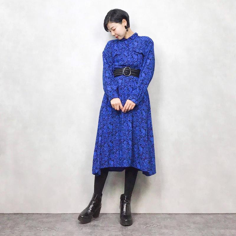 Laine  MADE IN U.S.A blue dress