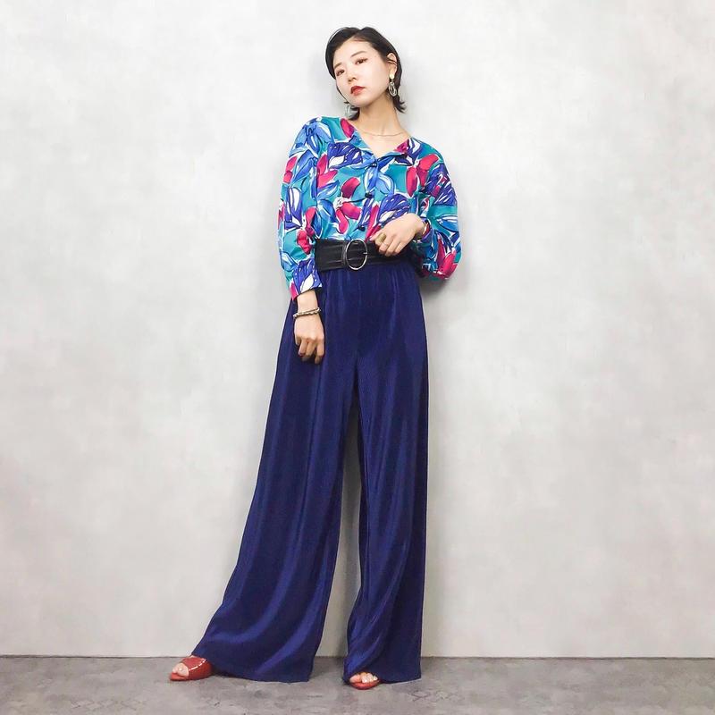 JAEGER flower shirt-413-7