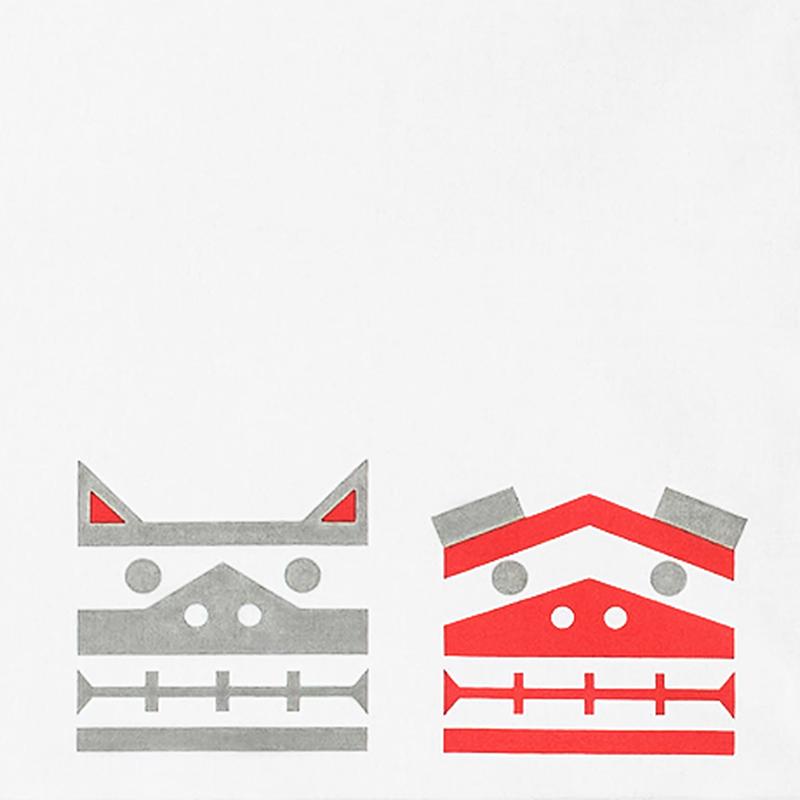 山形風呂敷/板獅子/コットン