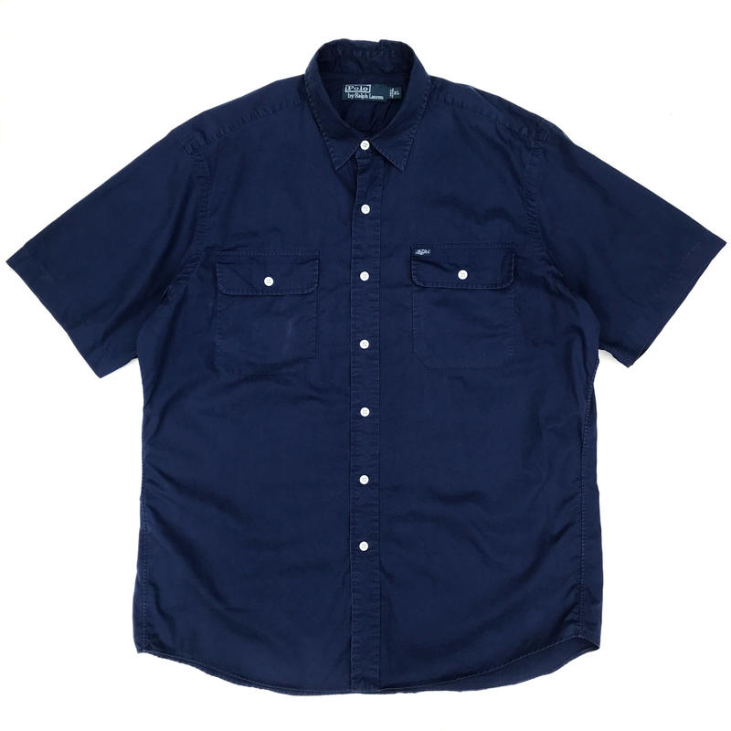Polo Ralph Lauren / S/S 2Pocket Work Shirt / Navy / Used