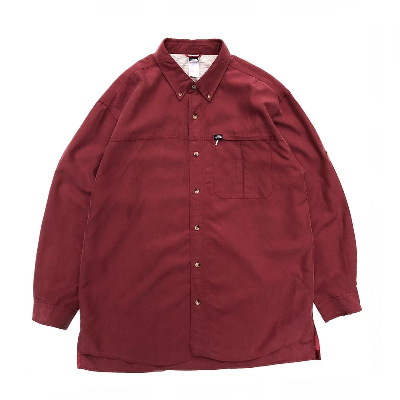 THE NORTH FACE / L/S  OutdoorShirt / Wine / Used