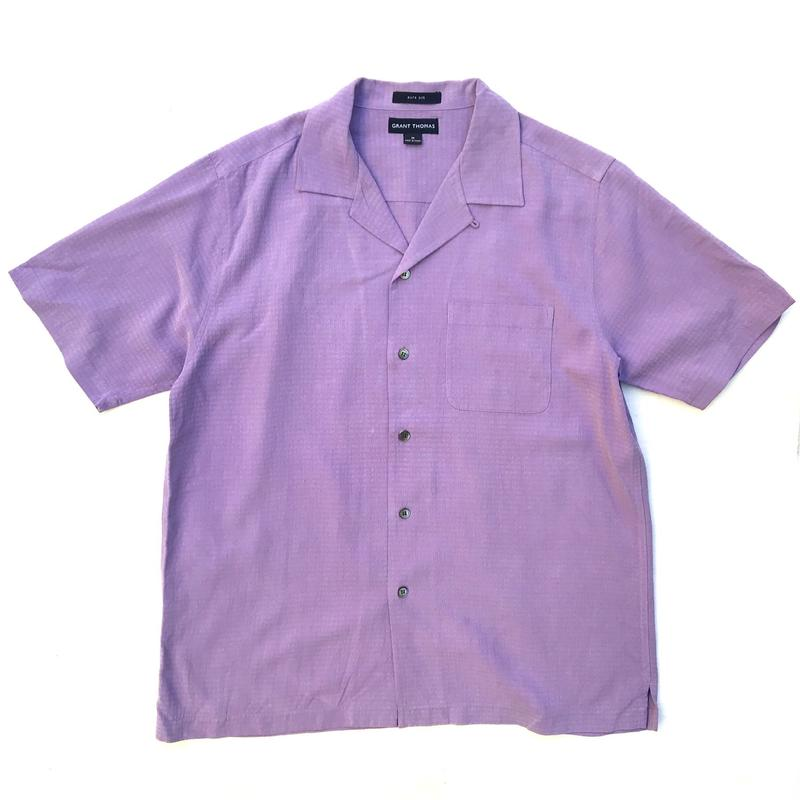 S/S Open Collar Silk Shirt / Purple / Used
