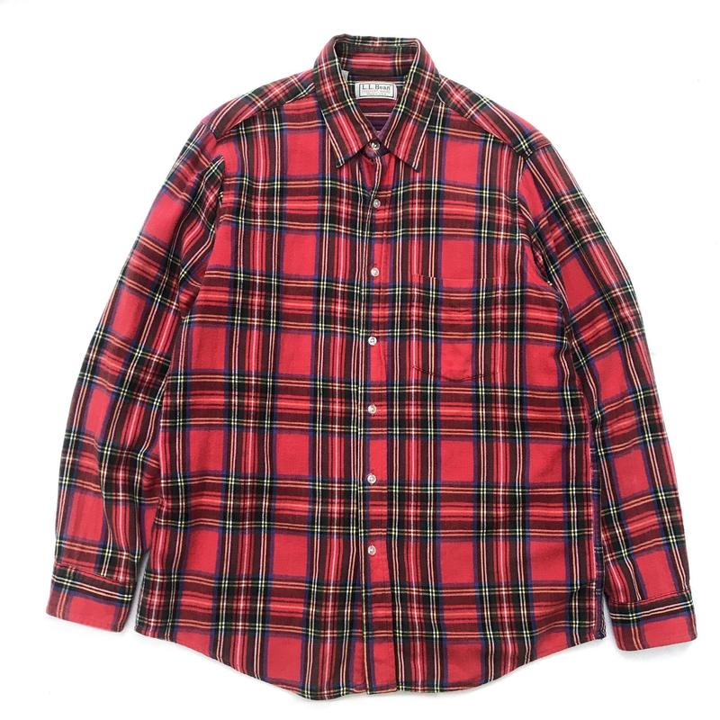 Made in USA / L.L.Bean / L/S Check Shirt / Red  / Used