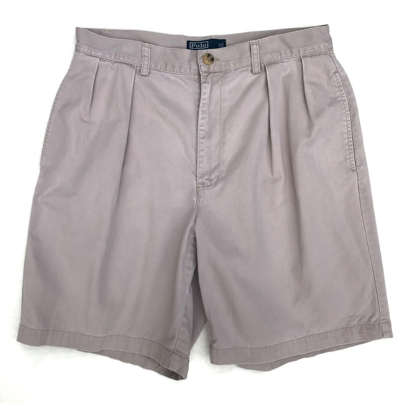 Polo Ralph Lauren / 2tuck Short  / Beige / Used