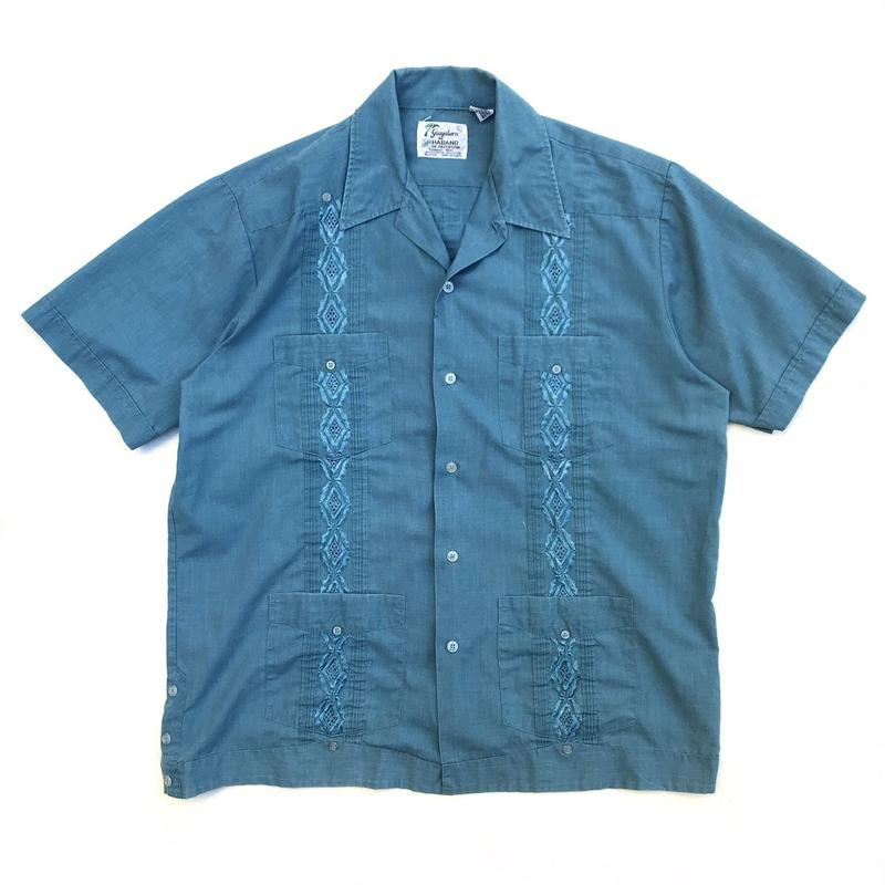 S/S Cuba Shirt / Dark Green / Used