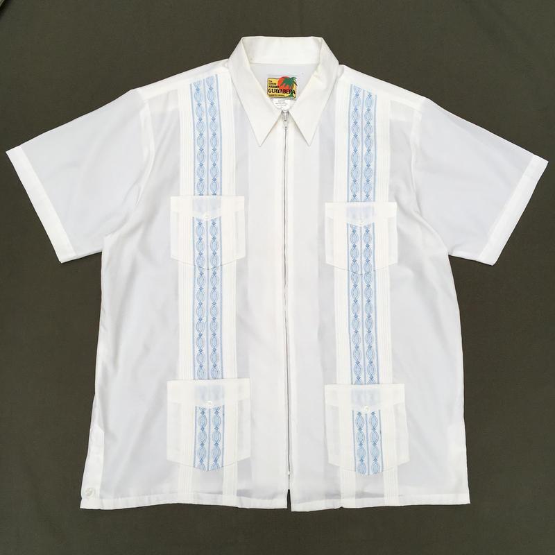 Full Zip Cuba Shirt / White / Used