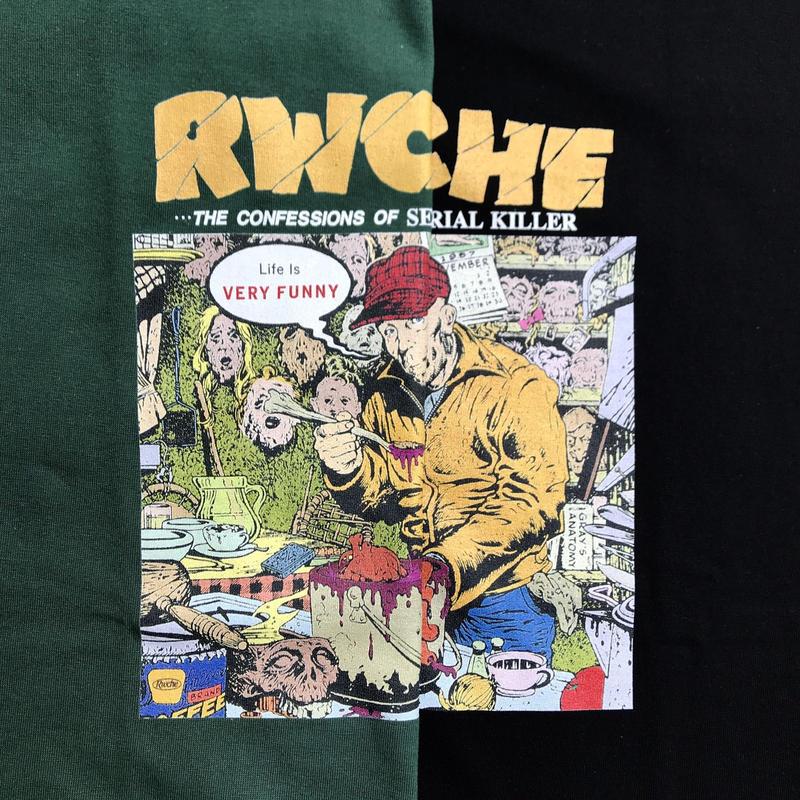 RWCHE  / DERANGED TEE / Black , Green