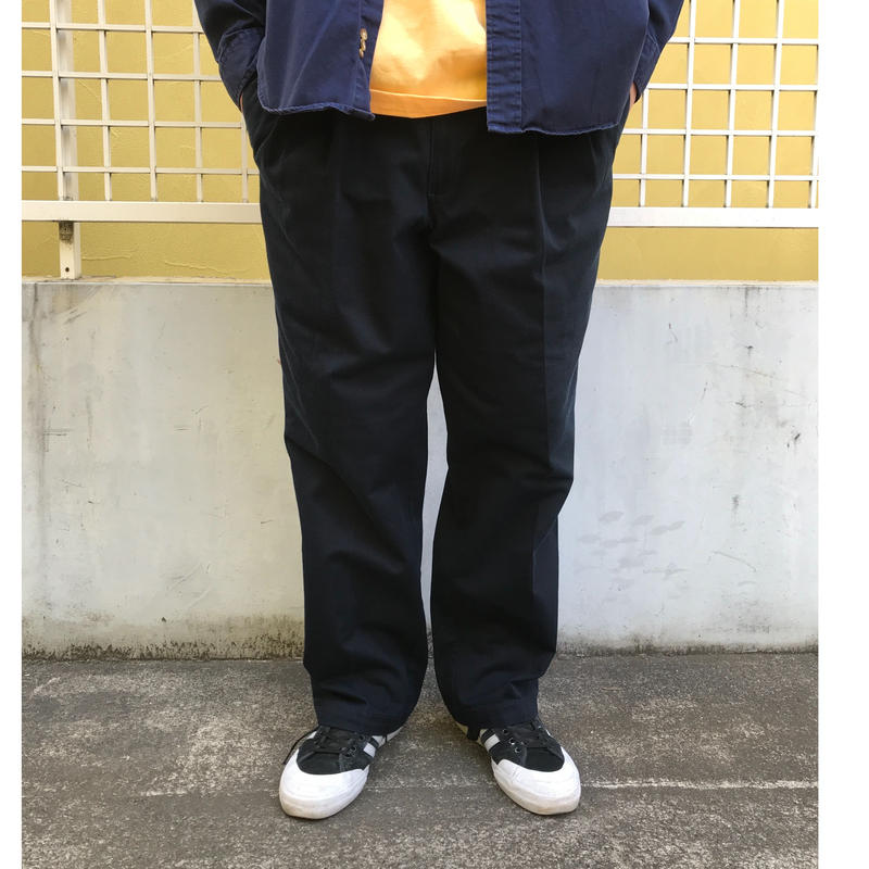 DOCKERS / Cotton 2Tuck Slacks  / Navy  / Used