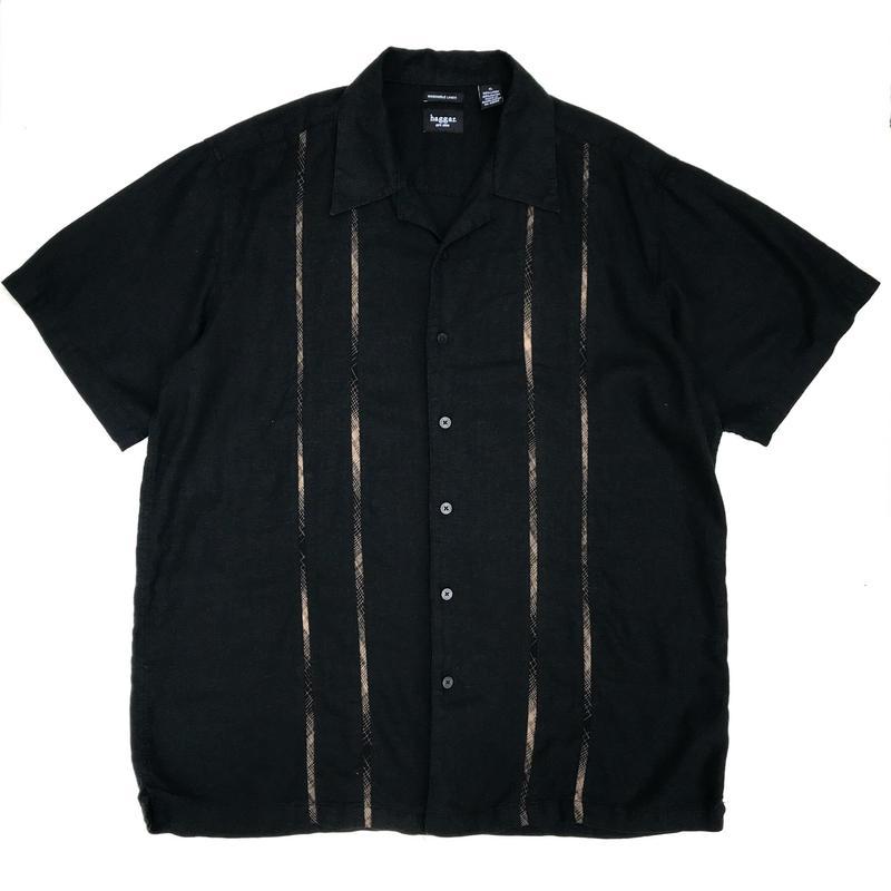 S/S Open Collar Shirt / Black / Used