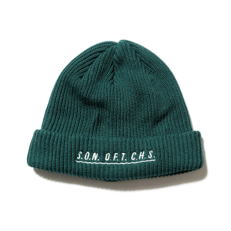 SON OF THE CHEESE / SOTC wave knit CAP(GREEN)