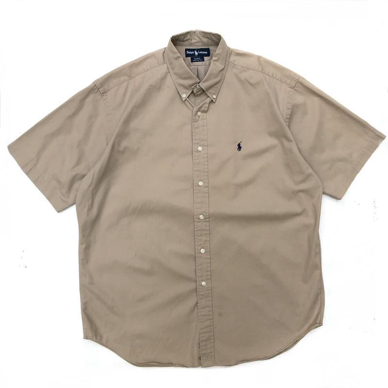 Polo Ralph Lauren / S/S B.D Shirt / Beige / Used