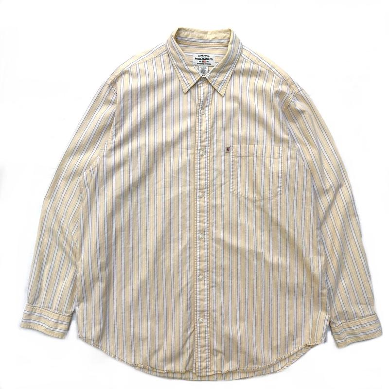 Polo Jeans / L/S Stripe Shirt / Yellow / Used