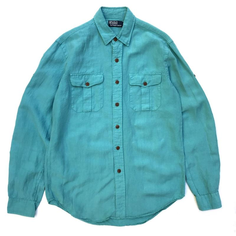 Polo Ralph Lauren / L/S Linen Shirt / Turquoise / Used