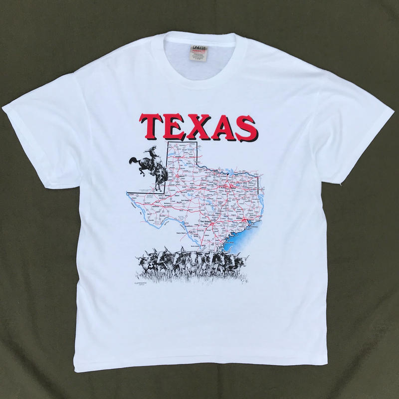 90s TEXAS Tee / White / Used