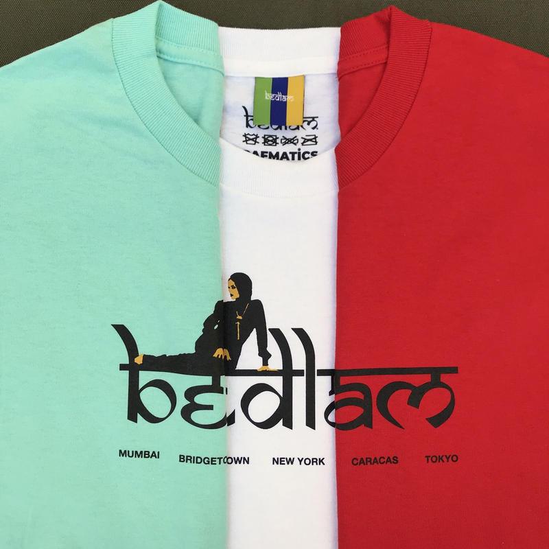 Bedlam / Rihlax Tee / White , Red , Celadon