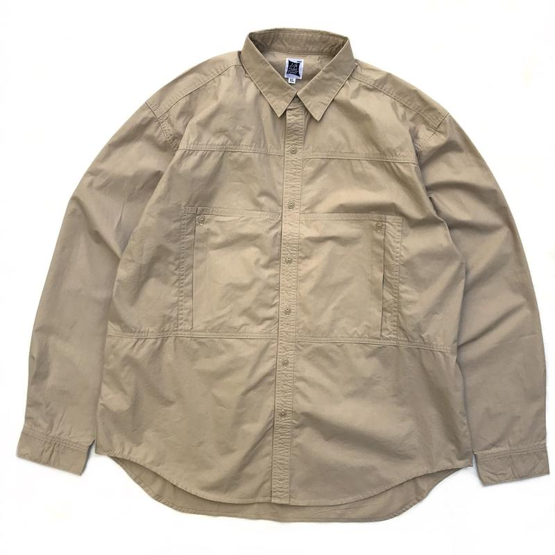 RWCHE / DEPTH POCKET SHIRTS / BEIGE