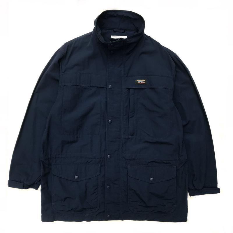 90s L.L.Bean / Nylon Mountain Parka / Navy / Used