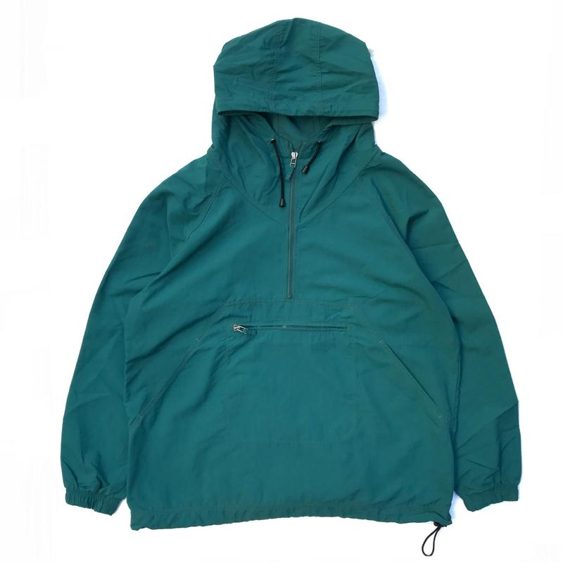 Made in USA / LANDS' END /  Nylon Anolak  / Green / Used