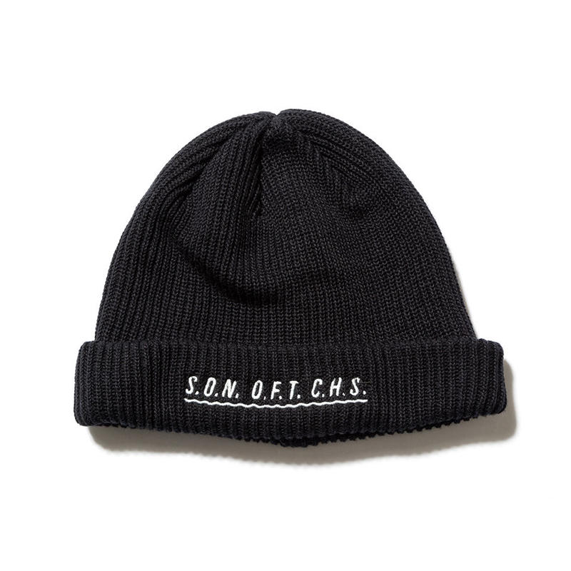 SON OF THE CHEESE / SOTC wave knit CAP(BLACK)
