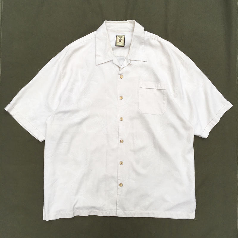 S/S Open Collar Shirt /   Ivory   / Used