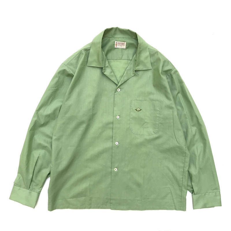 TOWN CRAFT / Open Collar Shirt / Green / Used