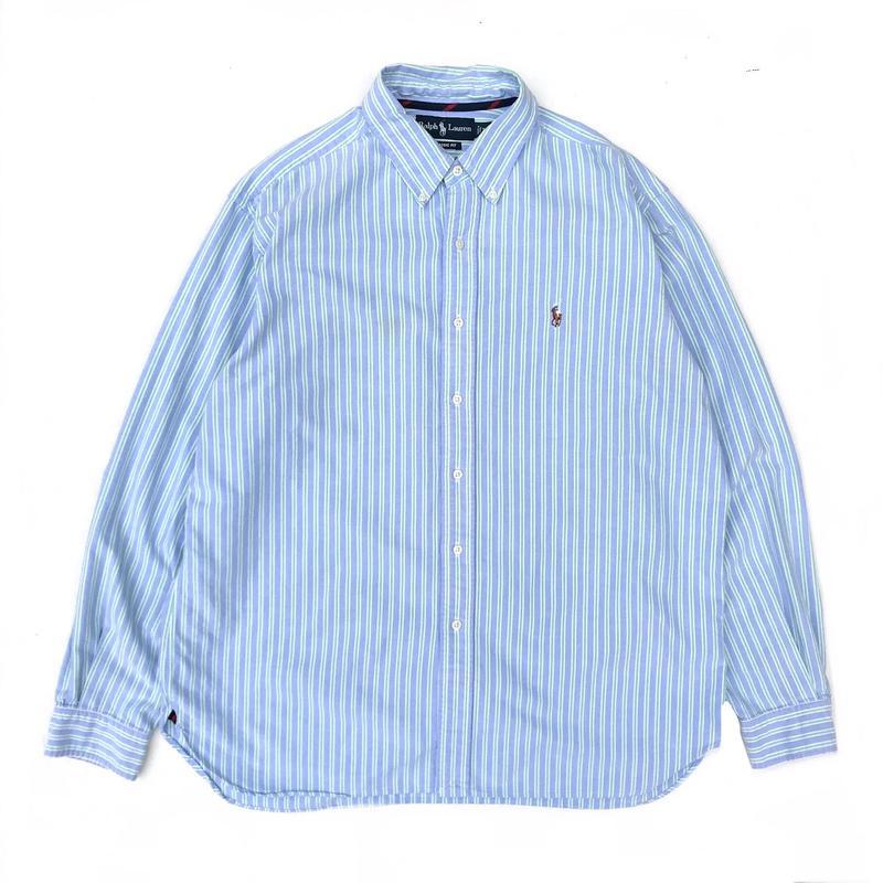 Polo Ralph Lauren / L/S Stripe B.D Shirt / Green Stripe / Used