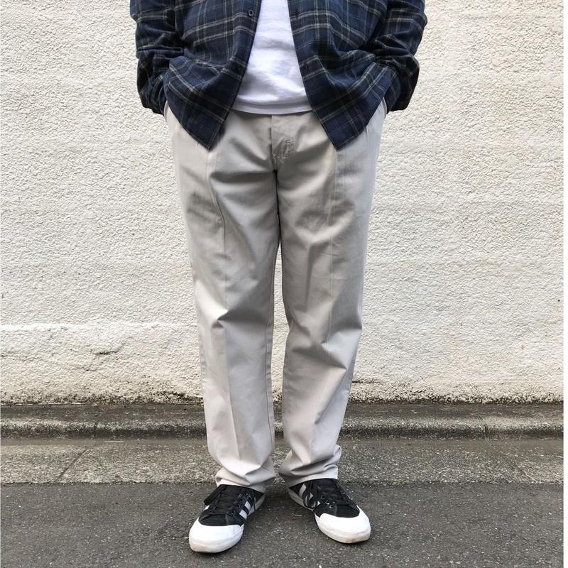 Made in USA / Cotton 2Tuck Slacks  / Ivory / Used
