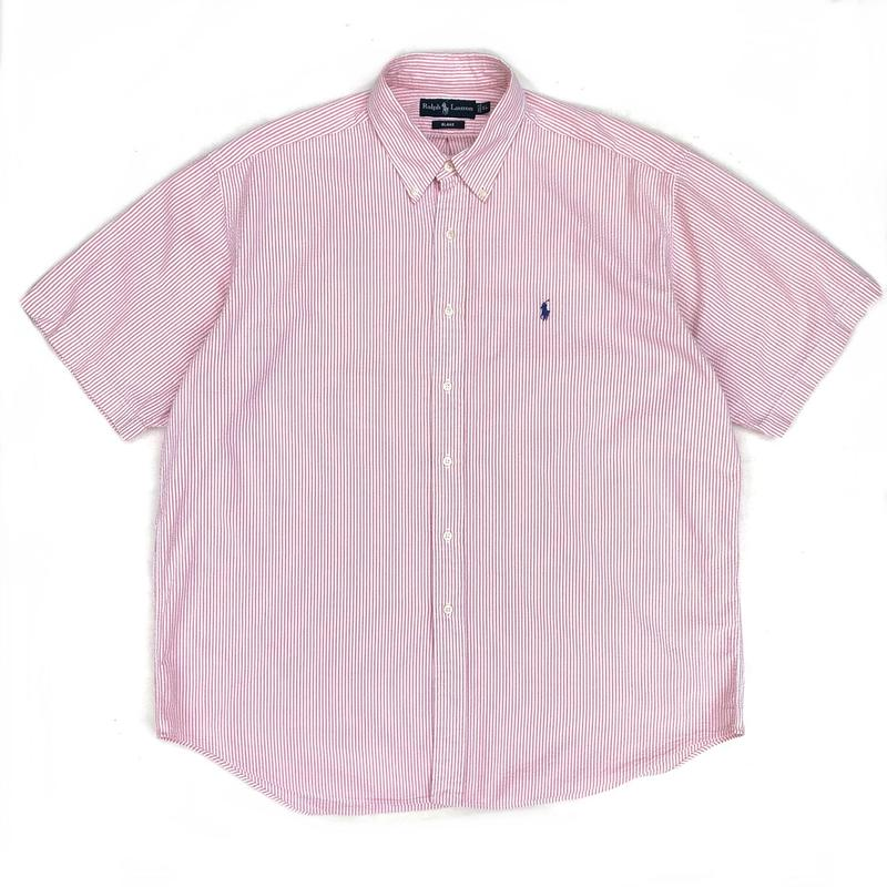 Polo Ralph Lauren / S/S Seersucker Stripe B.D Shirt / Pink / Used