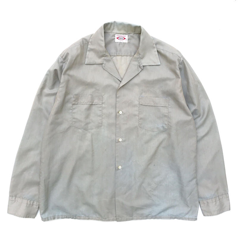 60-70s / Work Shirt / Gray / Used