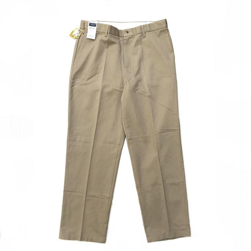 Dead stock / Cotton 2Tuck Slacks  / Beige / Used