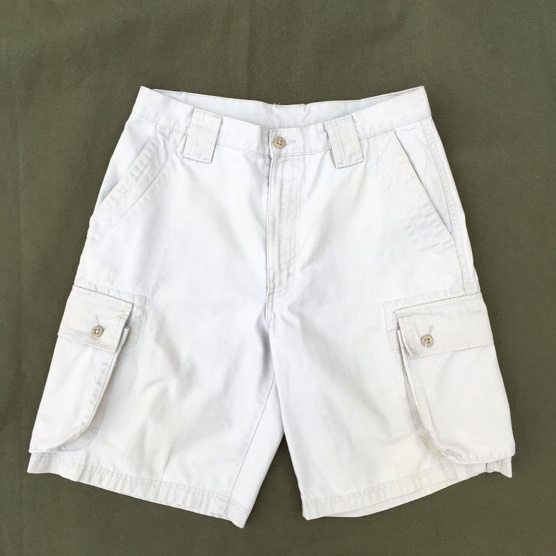 L.L.Bean / 6Pocket Cotton Cargo Shorts / Ivory / Used