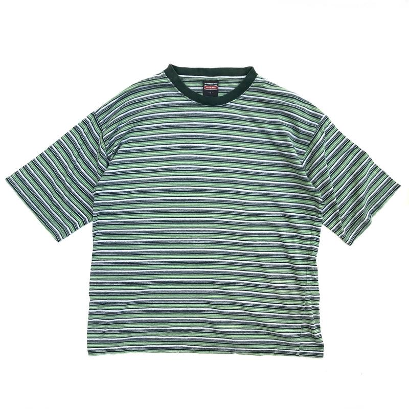 S/S Border Tee / Green / Used