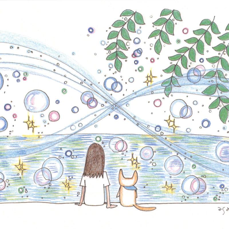 ポストカード10枚セット「ネコ:海辺のミラクル」
