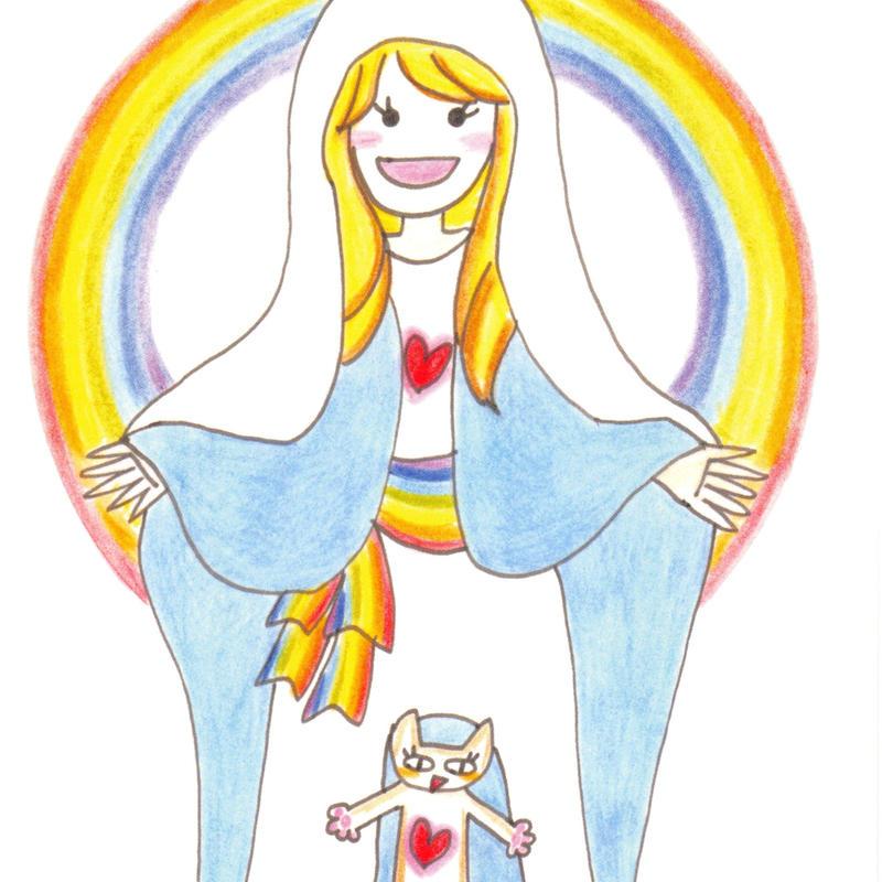 ポストカード10枚セット「7色の女神」