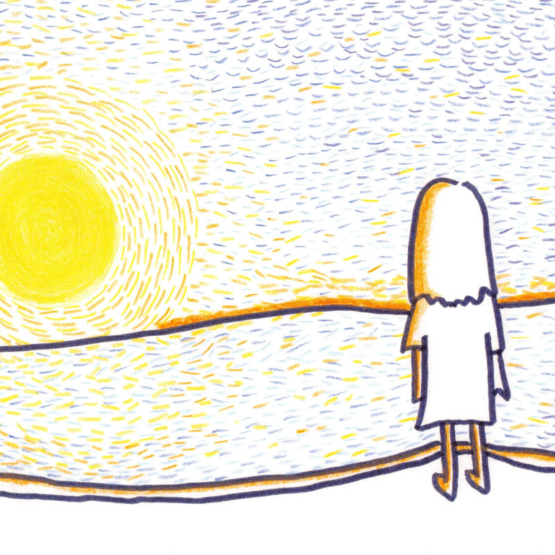 ポストカード10枚セット「夕日を見て想う」