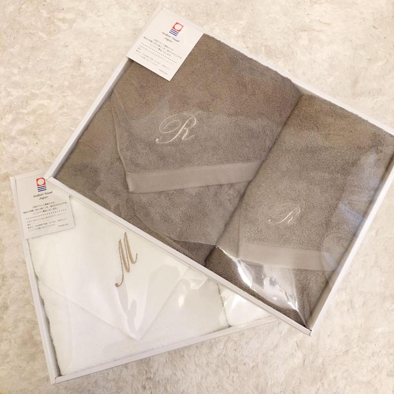 【引き出物用】今治タオルイニシャル入り〜フェイシャルタオルセット〜