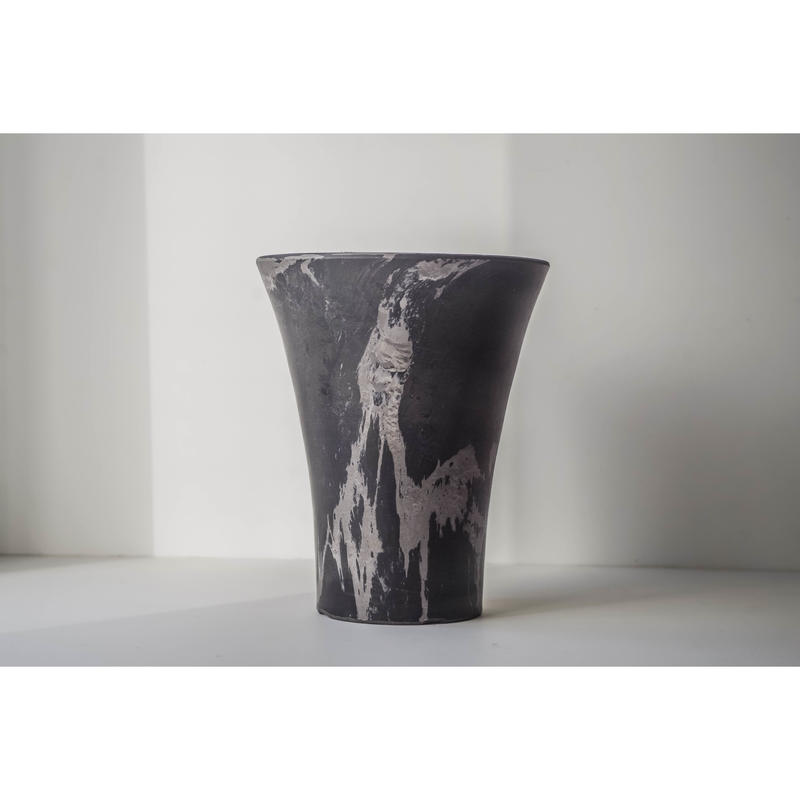 【10個セット】MarblePot15cm(Orchid)/Light Charcoal