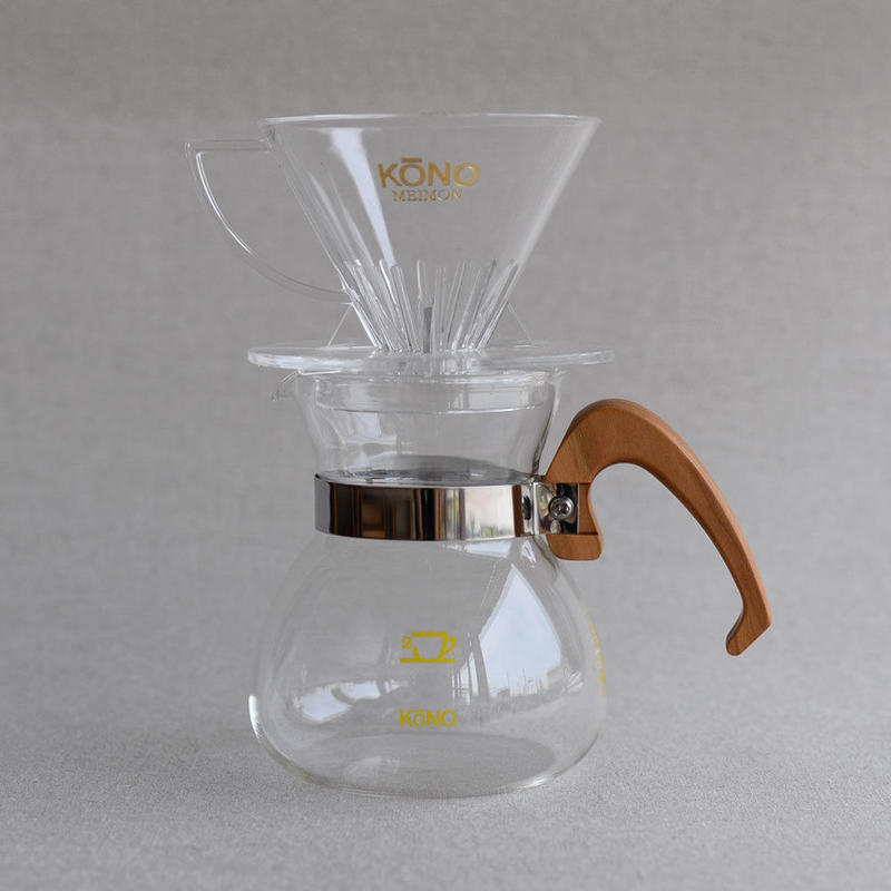 KONO|Coffee Dripper Set [WOOD] - 2人用