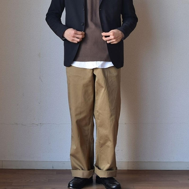 WORKERS OFFICER TROUSERS STANDARD FIT ワーカーズ オフィサートウラザー スタンダードフィット USMCカーキ