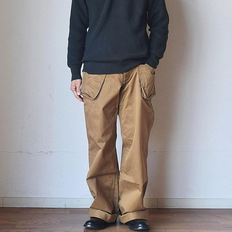 【comoda別注復刻パンツ!】nisica ニシカ ワイドカーゴパンツ ベージュ