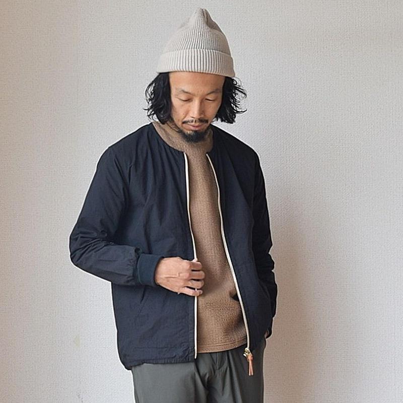 【スマートシルエットの秋アウター】Re made in tokyo japan クルーカーディガン ブラック