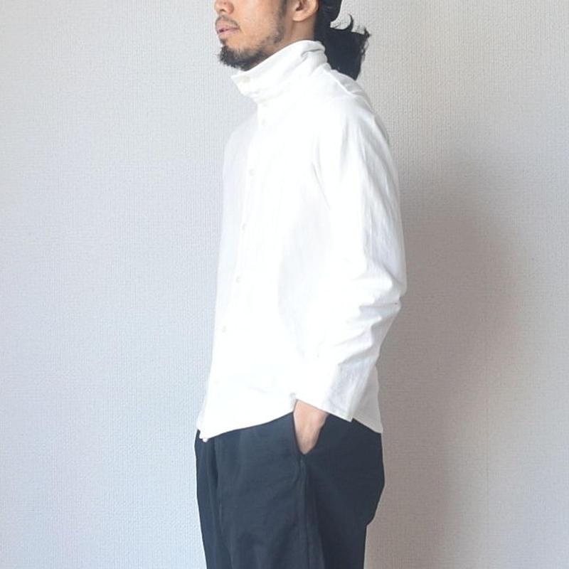 【着こなし方自由自在】nisca  ニシカ タートルネックカットソー ホワイト/ブラック