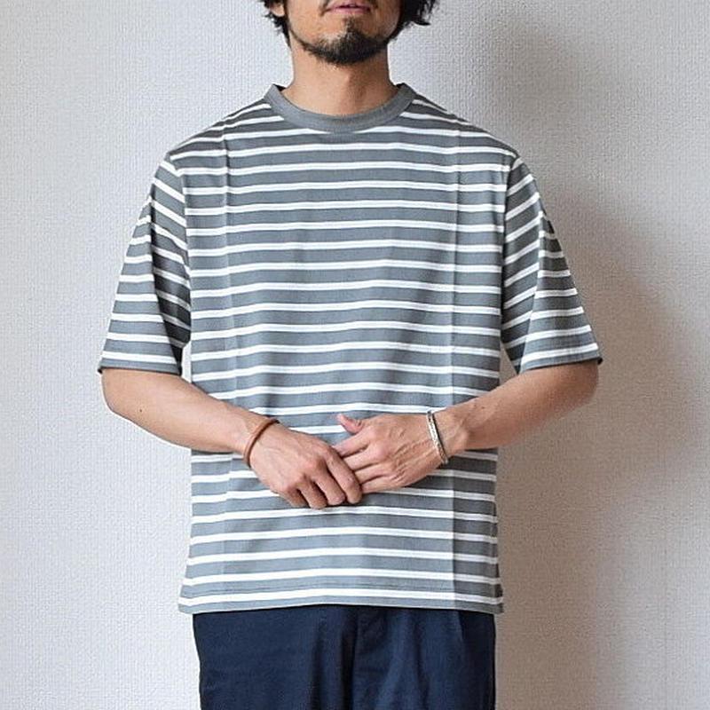 【グレーの色味に惚れました!】LA MOND  BORDER TEE ボーダーTシャツ グレー×ホワイト